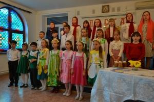 Пасхальное поздравление от воспитанников воскресной школы